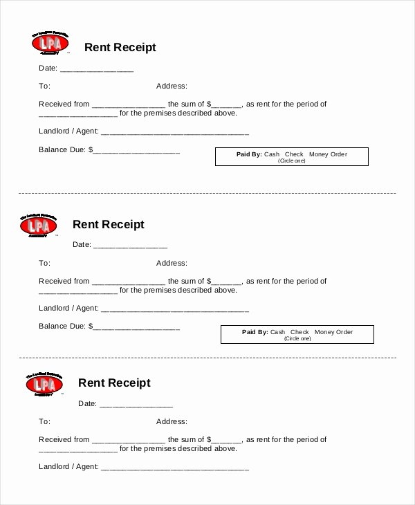Rent Receipts Template Word Best Of Rent Receipt Template 9 Free Word Pdf Documents