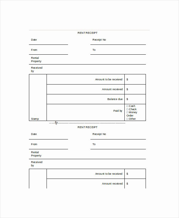 Rent Receipts Template Word Elegant Rent Receipt Template 11 Free Word Pdf Documents