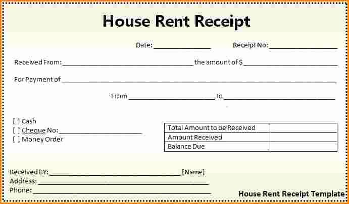 Rent Receipts Template Word Luxury 7 House Rent Receipt Template