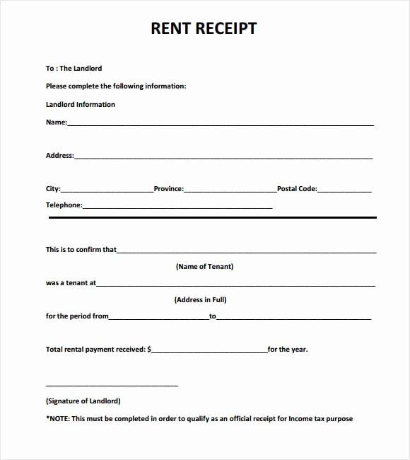 Rent Receipts Template Word Unique 6 Free Rent Receipt Templates Excel Pdf formats