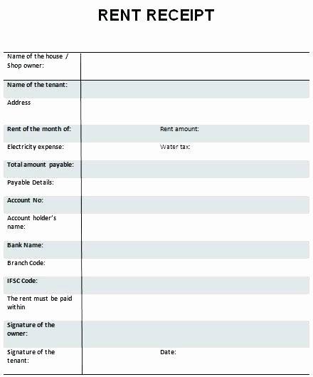 Rent Receipts Template Word Unique Rent Receipt format Word Rent Receipt format In Word Free