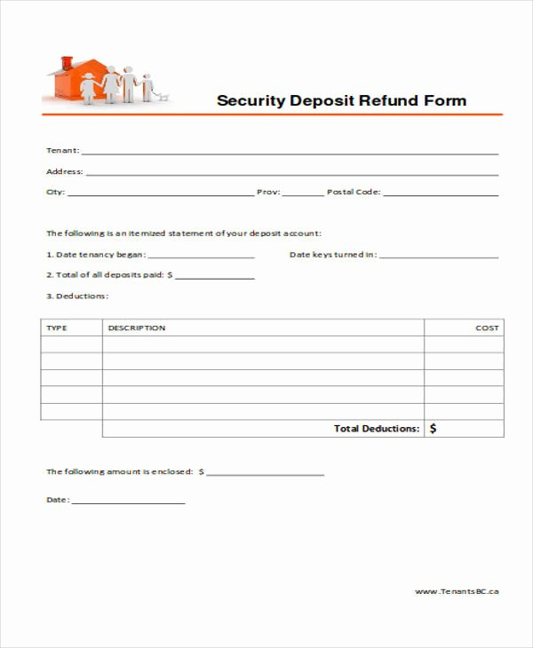 Rental Deposit Receipt Template New 39 Free Receipt forms