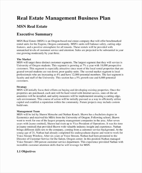 Rental Property Business Plan Template Luxury 3 Rental Property Business Plan Templates Pdf Google