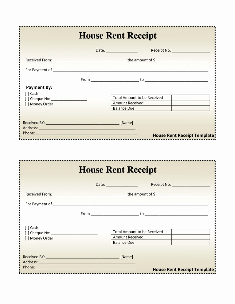 Rental Receipt Template Doc Best Of Free House Rental Invoice
