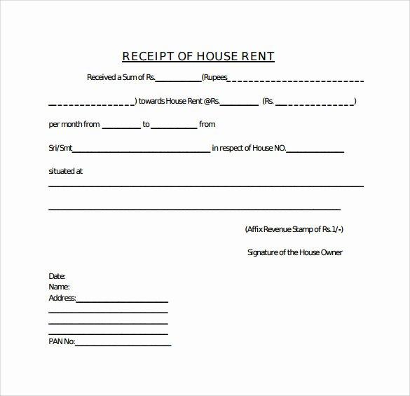 Rental Receipt Template Doc Elegant 21 Rent Receipt Templates