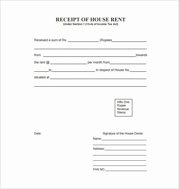 Rental Receipt Template Doc Elegant 35 Rental Receipt Templates Doc Pdf Excel
