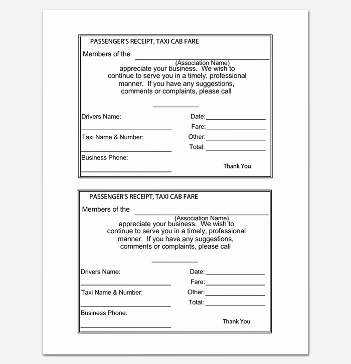 Rental Receipt Template Doc Unique Rent Receipt Template 9 forms for Word Doc Pdf format