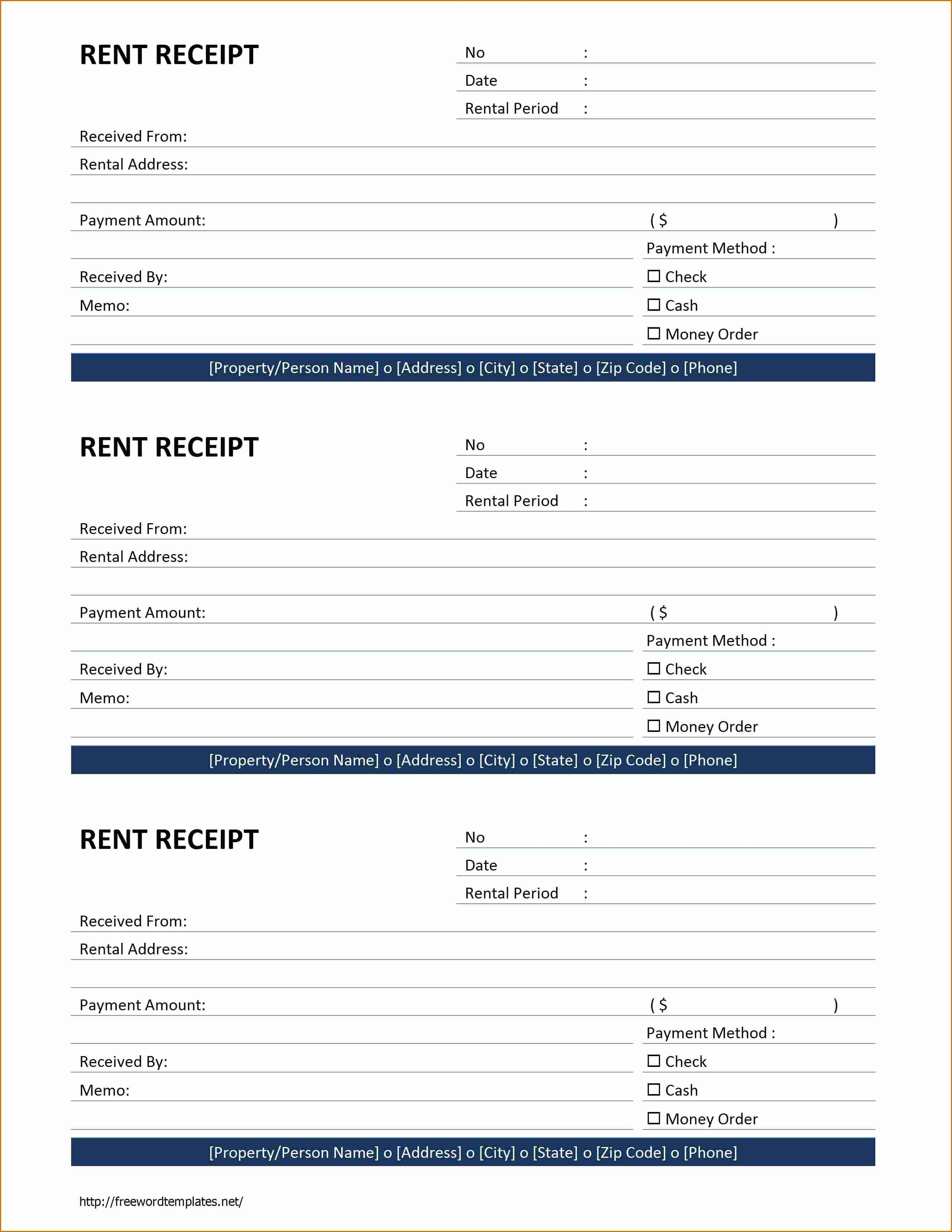 Rental Receipt Template Free Best Of 6 Rent Receipt Template Word