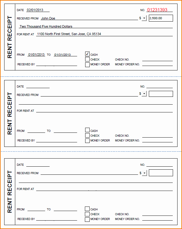 Rental Receipt Template Pdf Best Of 6 Free Rent Receipt