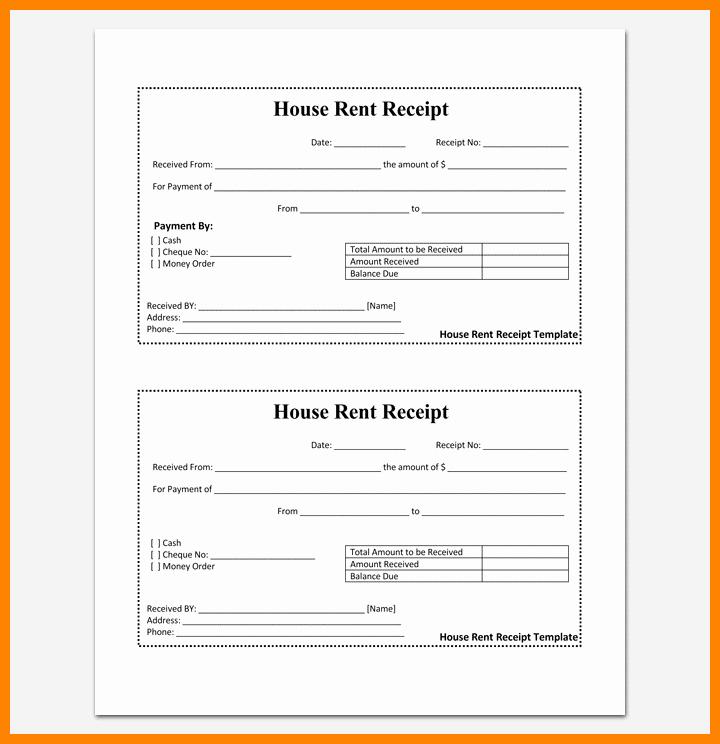 Rental Receipt Template Pdf Elegant 17 Receipt format