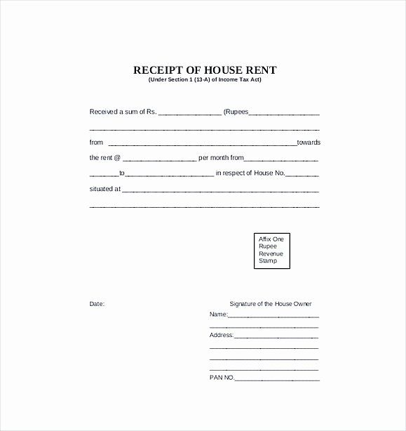 Rental Receipt Template Pdf Unique Rent Invoice Template