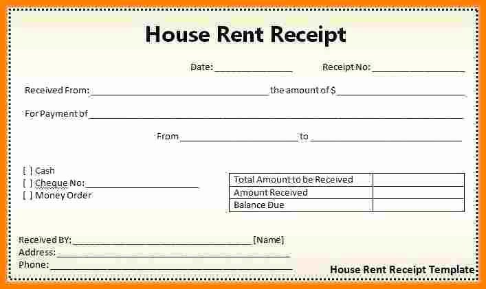 Rental Receipt Template Word Awesome 12 Rent Bill format In Word