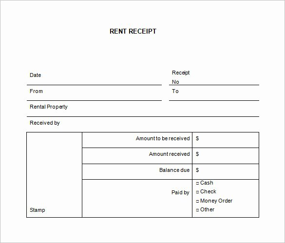 Rental Receipt Template Word Best Of 35 Rental Receipt Templates Doc Pdf Excel