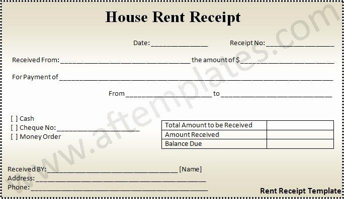 Rental Receipt Template Word Elegant 3 Best Rent Receipt Templates