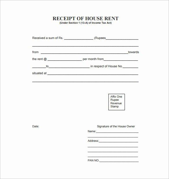 Rental Receipt Template Word Luxury 35 Rental Receipt Templates Doc Pdf Excel