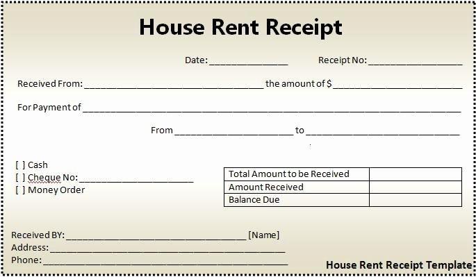 Rental Receipt Template Word New 16 House Rent Receipt format