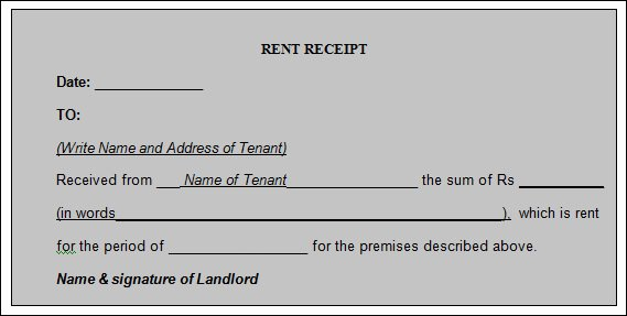 Rental Receipts Template Word New 21 Rent Receipt Templates