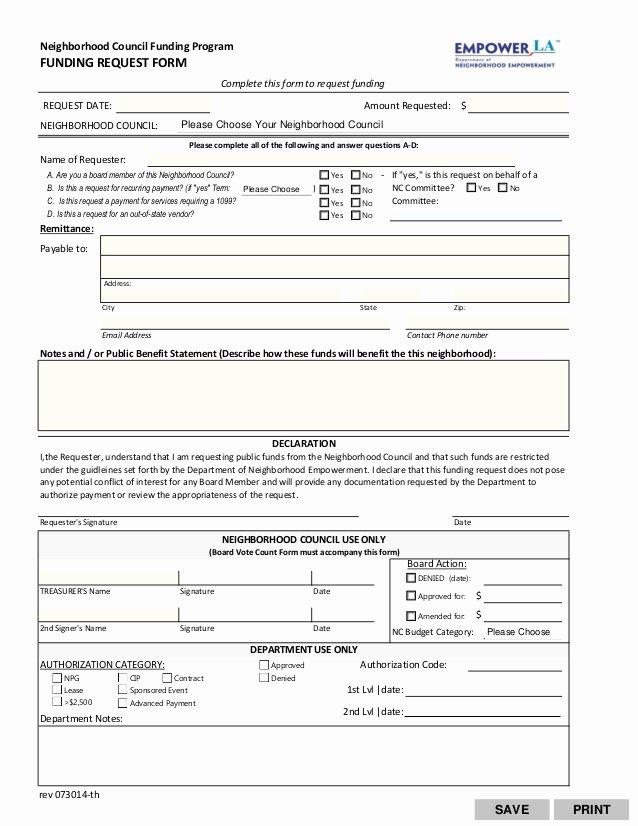 Request for Funds Letter Best Of Funding Request form Fillable