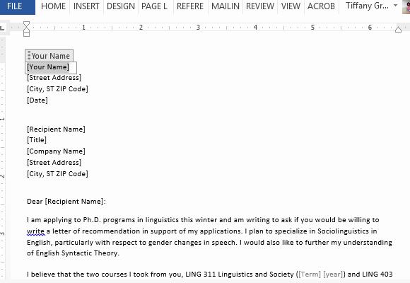 Request for Recommendation Letter Sample Unique Letter Requesting Graduate School Re Mendation Sample