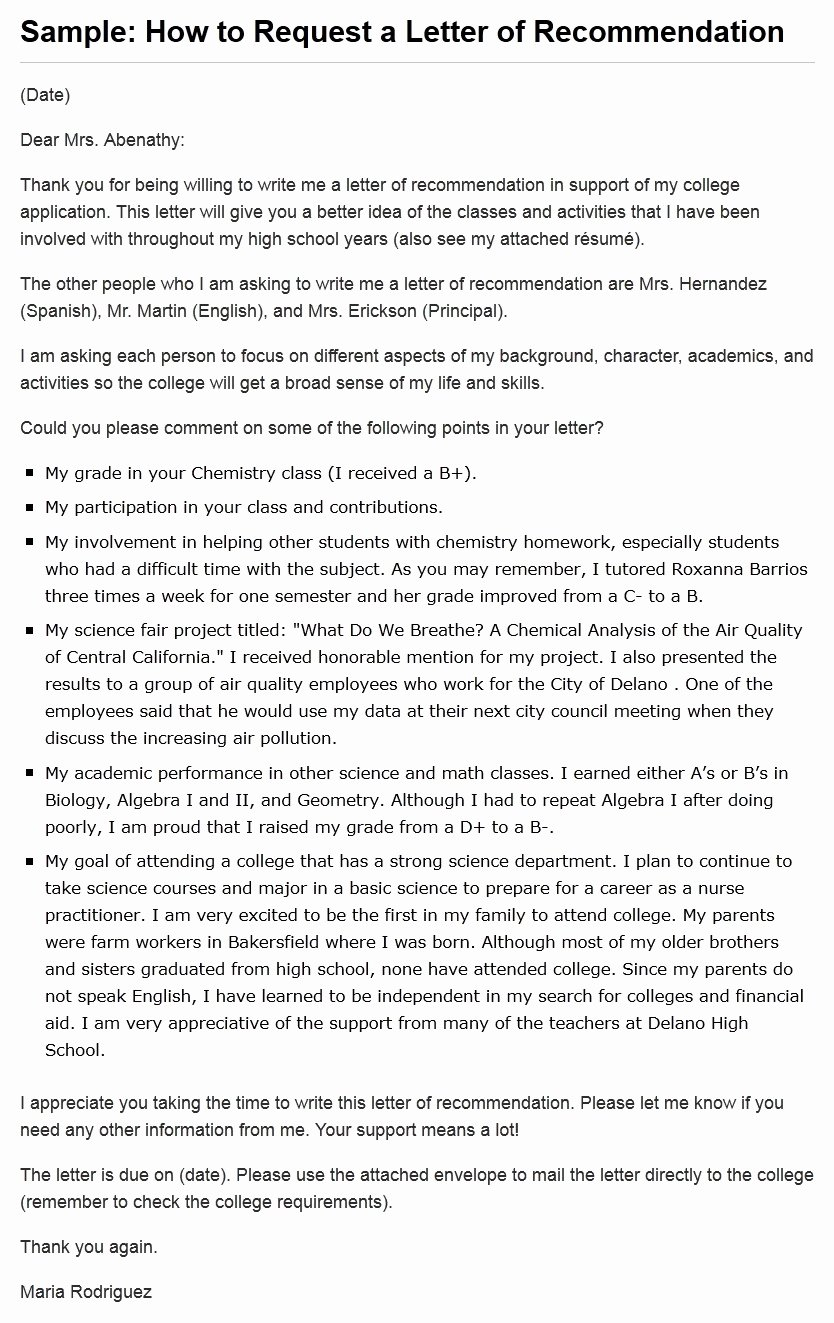 Request Letter Of Recommendation Template New College Deadlines Tips to Ensure Everything is Submitted
