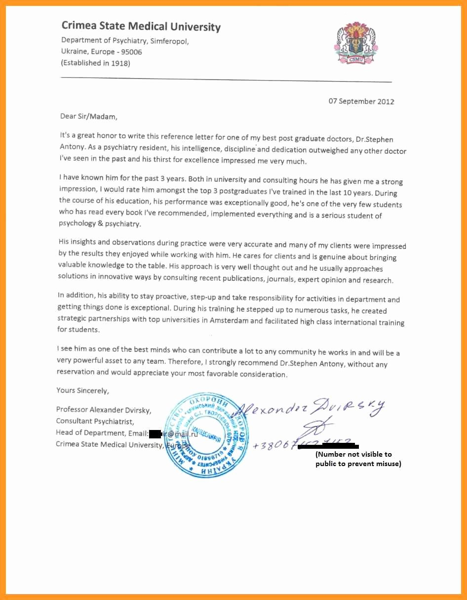 Residency Letter Of Recommendation Sample Best Of Eras Letter Of Re Mendation Sample