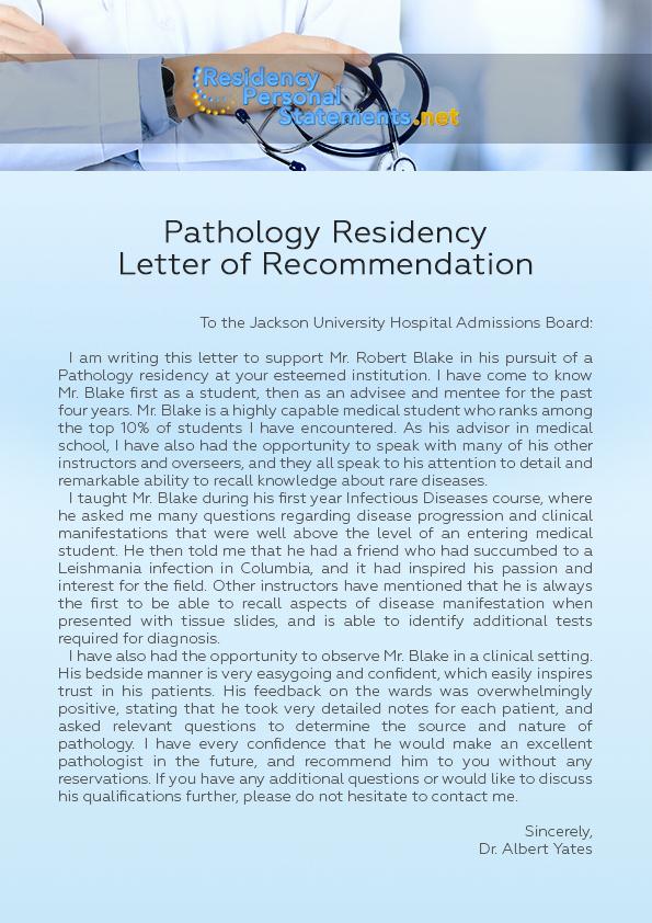 Residency Recommendation Letter Sample Elegant Pathology Residency Program Application Help