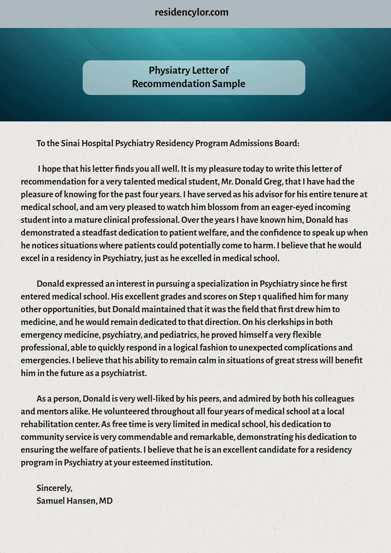 Residency Recommendation Letter Sample Fresh Professional Medical Re Mendation Letter for Residency