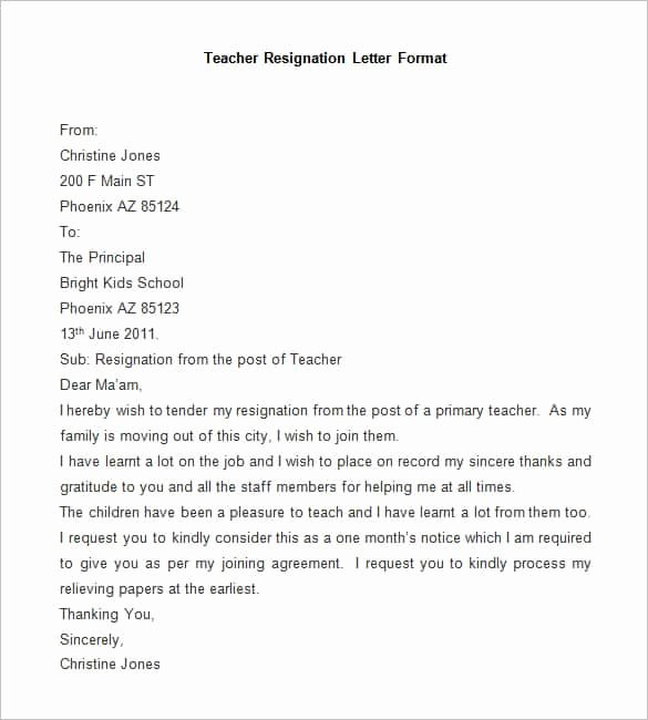 Resignation Letter format Pdf Awesome 69 Resignation Letter Template Word Pdf Ipages