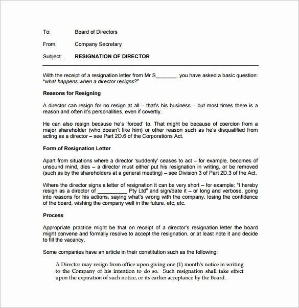 Resignation Letter format Pdf Best Of Resignation Letter Templates 14 Free Sample Example