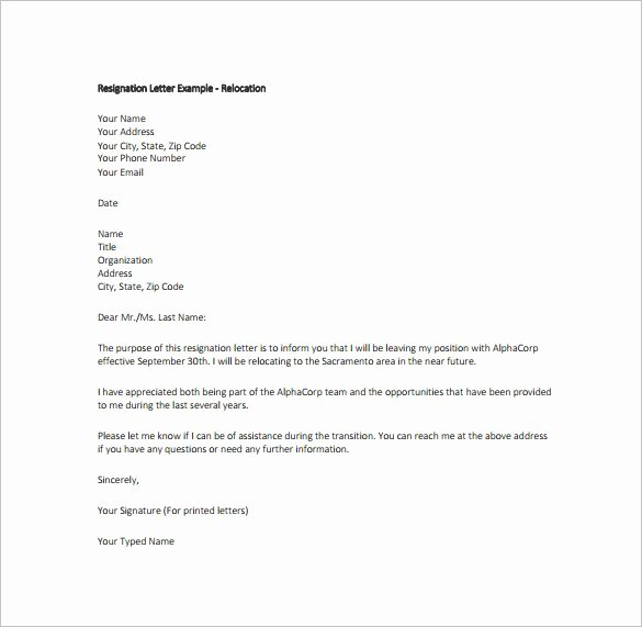 Resignation Letter format Pdf Best Of Resignation Letter Templates 14 Free Sample Example