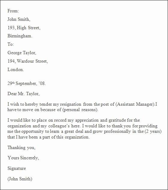 Resignation Letter format Pdf Elegant 9 Professional Resignation Letter Pdf Doc