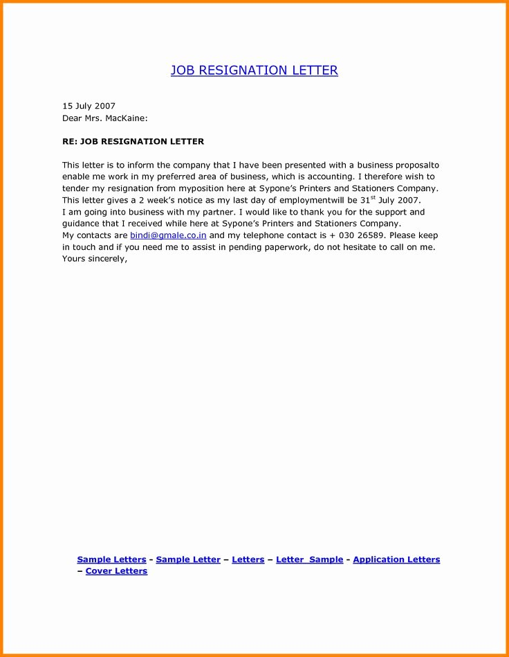 Resignation Letter format Pdf Elegant the 25 Best Resignation Letter format Ideas On Pinterest