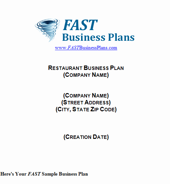 Restaurant Business Plan Template Word Fresh 32 Free Restaurant Business Plan Templates In Word Excel Pdf