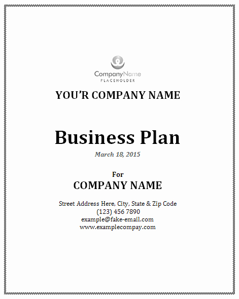Restaurant Business Plan Template Word Fresh Sample Business Plan Template