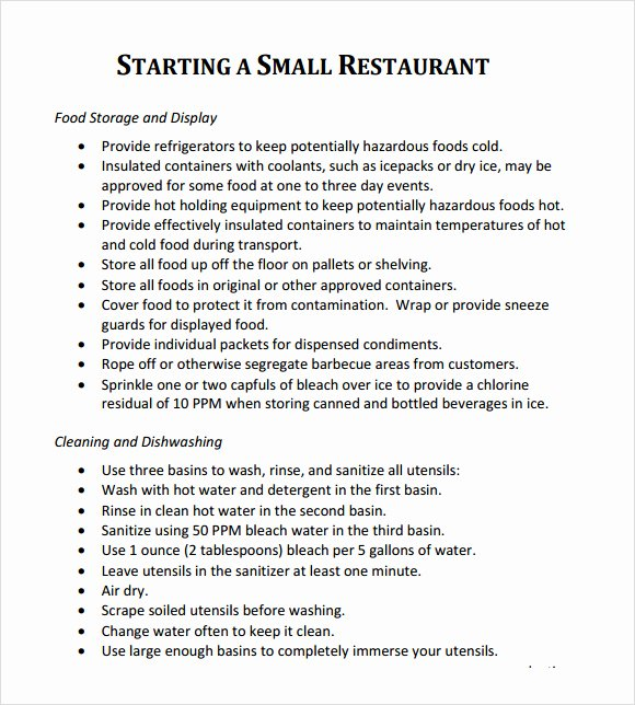 Restaurant Business Plan Template Word Lovely 32 Free Restaurant Business Plan Templates In Word Excel Pdf
