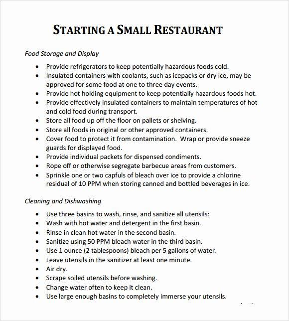 Restaurant Business Plan Template Word Lovely 32 Free Restaurant Business Plan Templates In Word Excel Pdf