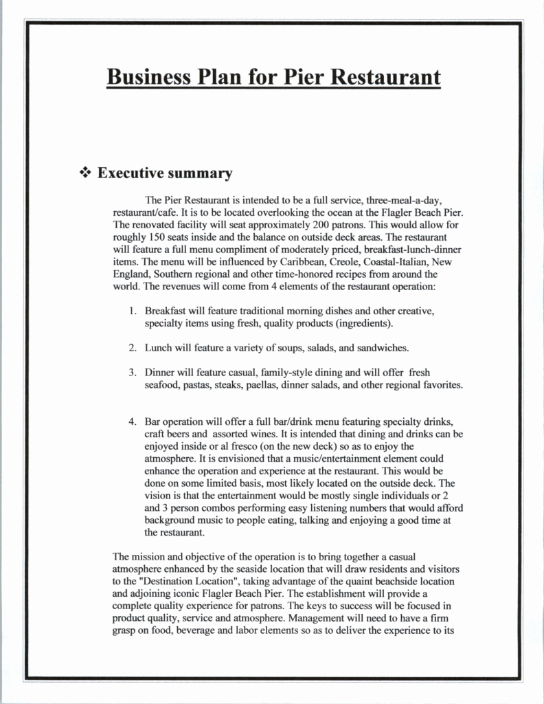 Restaurant Business Plan Template Word Lovely top 5 Resources to Get Free Restaurant Business Plan