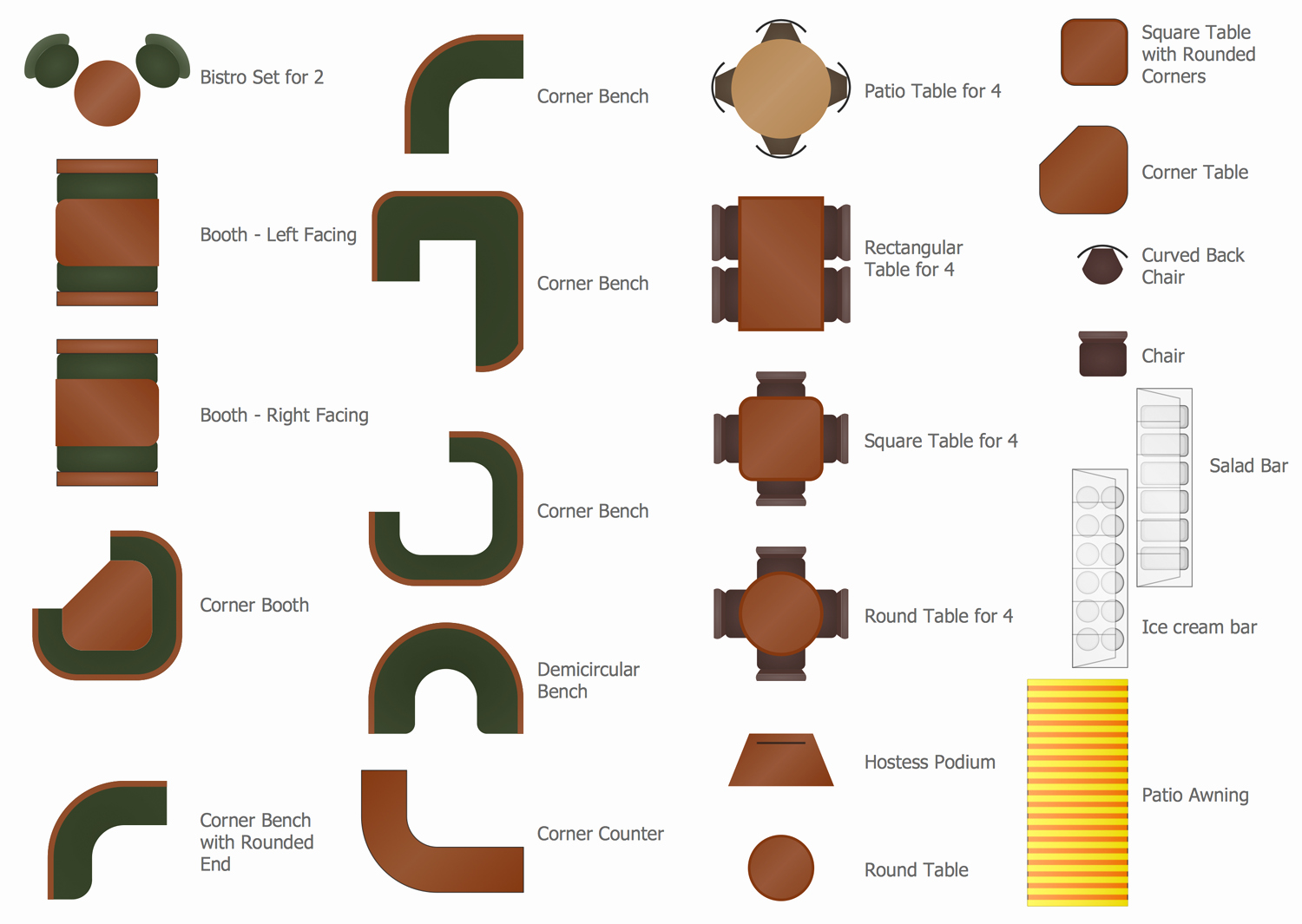 Restaurant Floor Plan Template Awesome Cafe and Restaurant Floor Plan solution