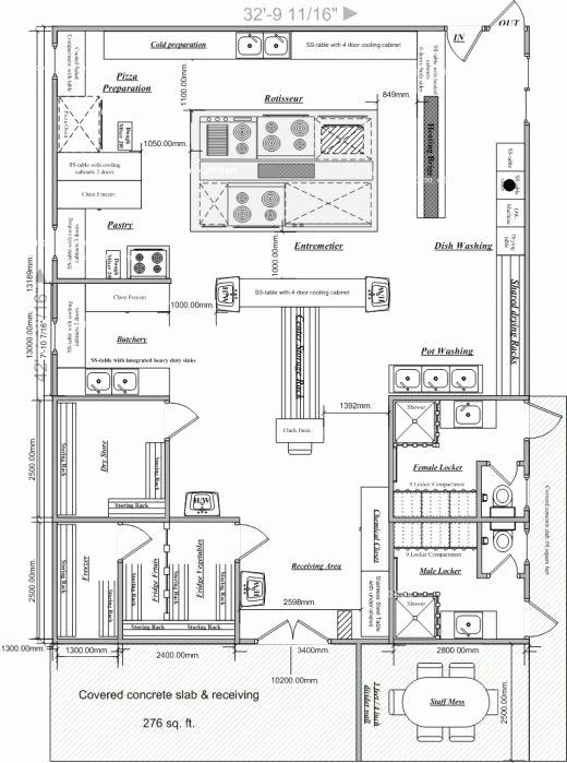 Restaurant Floor Plan Template Beautiful Blueprints Of Restaurant Kitchen Designs