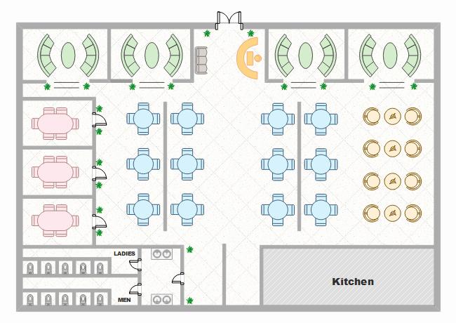 template restaurant floor plan