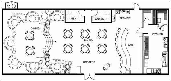 Restaurant Floor Plan Template Inspirational Restaurant Design software