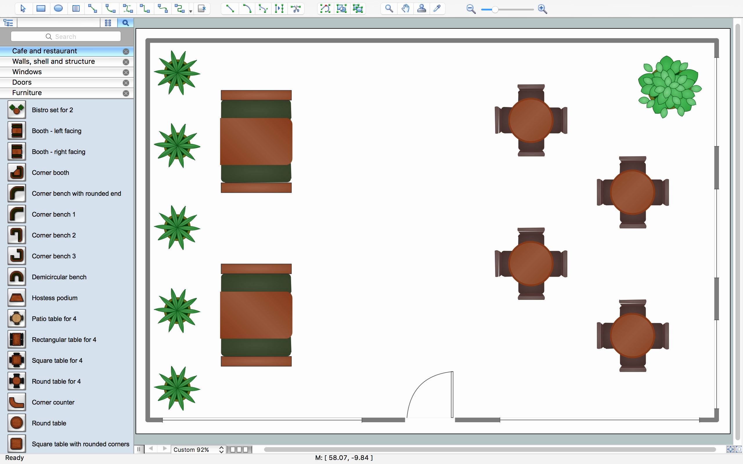Restaurant Floor Plan Template Lovely Restaurant Floor Plans software