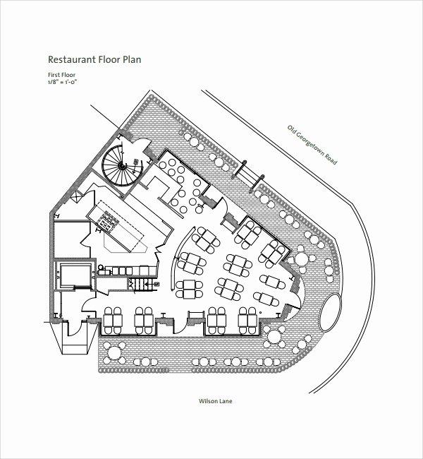 Restaurant Floor Plan Template Luxury Sample Floor Plan Template 9 Free Documents In Pdf Word