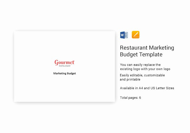 Restaurant Marketing Plan Template Best Of 37 Restaurant Marketing Templates [ Plans Spreadsheets