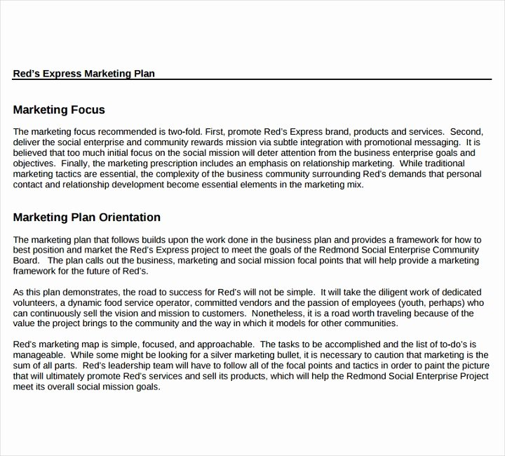 Restaurant Marketing Plan Template Lovely 6 Marketing Proposals for A Restaurant Cafe and Bakery