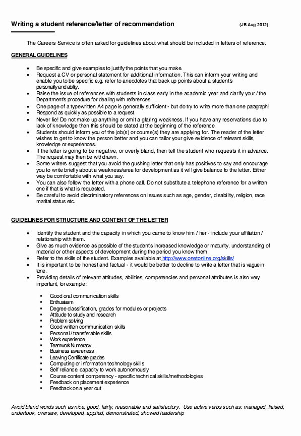 Resume for Letter Of Recommendation Fresh Writing A Student Letter Re Mendation