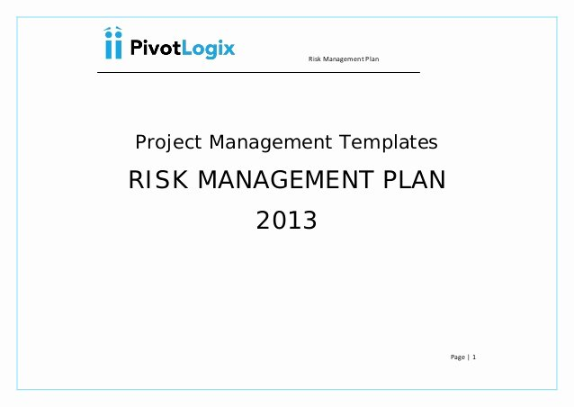 Risk Management Plan Template Doc Beautiful Pmp Risk Management Plan & Template