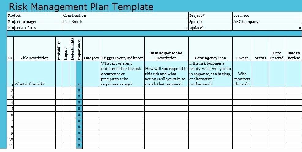 Risk Management Plan Template Doc Lovely Risk Management Plan Template Download Project Templates