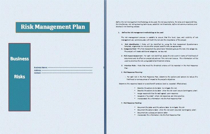 Risk Management Plan Template Doc New 36 Best Strategic Planning Images On Pinterest