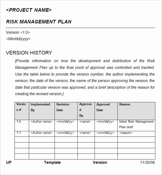 Risk Management Plan Template Pdf Awesome 10 Crisis Management Plan Examples Pdf